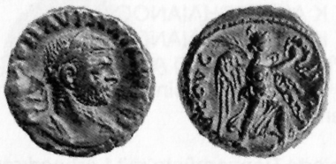 Aurelian, 270-275. Tetradrachm, 274/5. Rev. Nike with wreath and palm branch going r. D. 5459. Blancon, list 31 (1999-2000), 741.