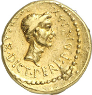 Nr. 992. Roman Republic. Octavian. Aureus, mint in Gallia Cisalpina, 43 B. C. Cr. 490/2. Acquired from Harlan Berk in 1985. Very rare. Very fine to extremely fine. Estimate: 75,000 euros. End result: 120,750 euros.