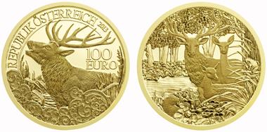 Österreich / 100 EUR / .986 Gold / 16 g / 30 mm / Design: Helmut Andexlinger und Thomas Pesendorfer / Auflage: 30.000.