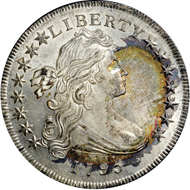 33499: 1795 $1 Draped Bust, Off Center MS66+ NGC. CAC. B-14, BB-51, R.2.