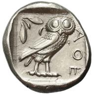 Lot 5. AR Tetradrachm Attica, Athens. Ca. 454-404 BC. SCG Cop. 31. Good EF. 1,750 euros.