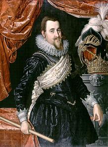 Christian IV. von Dänemark, um 1611-1616. Quelle: Wikicommons.