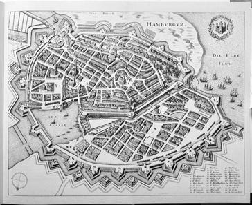 Karte der Elbmündung 1721 von Samuel Gottlieb Zimmermann und Otto Hasenbanck. Quelle: Wikipedia.
