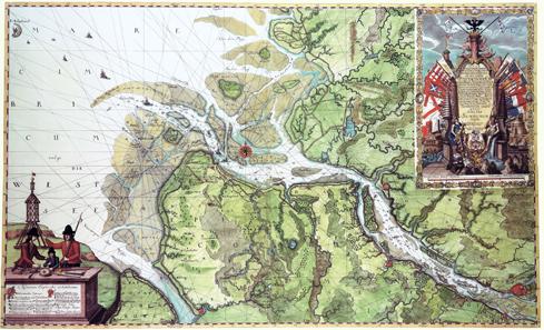 Matthäus Merian, Stadtplan von Hamburg, vor 1653. Quelle: Wikipedia.