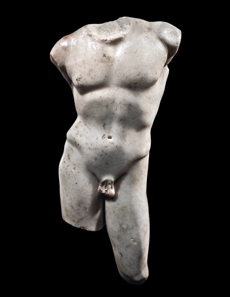 Marble torso of a youth Roman, 1st-2nd century AD H: 39 cm Conradty Family Collection, Germany, acquired in the 1920s at Safani Gallery Inc. New York.