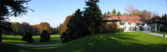 Panorama of the park with the Wenkenhof during BAAF.