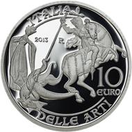 Italy / 10 Euro / .925 silver / 22g / 43mm / Design: Maria Carmela Colaneri / Mintage: 7,000.