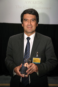 The winner of the Best New Circulating Coin or Series was Banco de La Republica Colombia, accepted by Nestor Plazas.