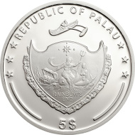 Palau / 5 Dollars / 1oz Silver .925 / 38.61 mm / Mintage: 2,014.