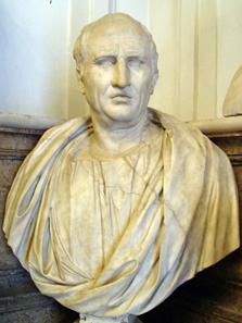 Wie viele andere Aristokraten fühlte sich auch Cicero politisch von Caesar bevormundet. Büste Ciceros in den Kapitolinischen Museen, Rom. Foto: Glauco92 / http://creativecommons.org/licenses/by-sa/3.0/deed.en