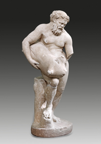 3: Silenus. White, finely crystalline marble. H. 115 cm. Roman Imperial Period, 1st cent. AD. Maria Ortmeier Collection, Linz. Estimate: 250,000 euros.