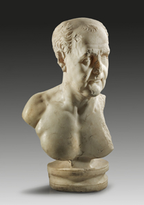 5: Portrait bust of an aged Roman. Trajanic, 1st quarter of 1st cent. A. D. White, finely crystalline marble. H. 59 cm. Estimate: 90,000 euros.