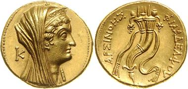 85: Könige von Ägypten, Ptolemaios VI. 180-145 v. Chr. Oktodrachme (mnaion), Alexandria. Ausruf: 4.600 Euro. Zuschlag: 9.000 Euro.