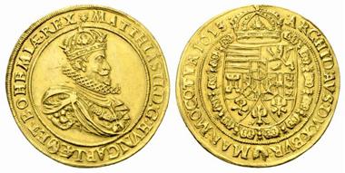 2623: Matthias. 10 Dukaten, 1613, Wien. fast vzgl. Rufpreis: 30.000 Euro.