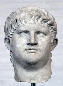 Head of Nero, after 64 AD. Glyptothek, Munich.