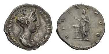 Lot 95: Roman Empire. Matidia. Denarius, circa 112. RIC Trajan 758. Very fine.