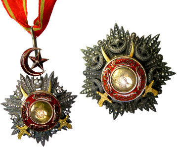 TURKEY: Abdul Mejid, 1839-1861, Mecidiye Nisani order set, AH1268 (1852), Order of the Medjidie, 2nd Class. Estimate: $5,000-6,000.