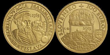 Slowakei / 100 Euro / .900 Gold / 9,5 g / 26 mm / Design: Karol Licko, Dalibor Schmidt / Auflage: 4.300.