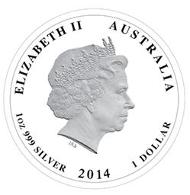 Australia / 1 AUD / 1oz 999 silver / 31.135g / 32.60mm / Design: Tom Vaughan / Mintage: 7,500.