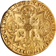 229: BELGIUM. Brabant. 2 Mouton d'Or, ND (ca. 1370/1). Vilvorde Mint. NGC MS-63.