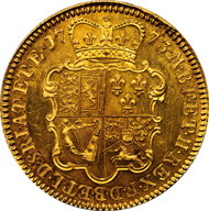 1003: GREAT BRITAIN. George III, 1760-1820. Pattern 5 Guineas, 1773.