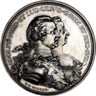1708: SWEDEN. Visit to the Royal Couple to Falun Silver Medal, 1755.