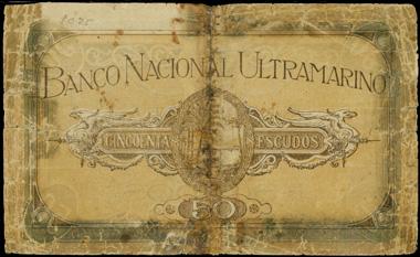 3008: ANGOLA. Banco Nacional Ultramarino 50 Escudos, 1.1.1920. P-54.