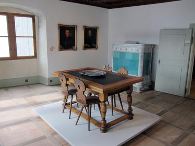 Wohnzimmer des Abtes / Sankturbanhof. Foto: KW.