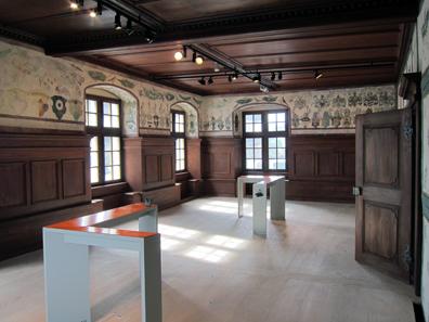 Der Empfangssaal des Abtes / Sankturbanhof. Foto: KW.