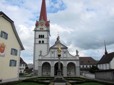 The baroque church. Photo: KW.