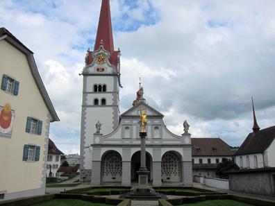 Blick auf die Stiftskirche. Foto: KW.