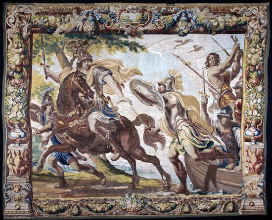 History of Marc Antony. Bruxelles, between 1661 and 1668. From the manufacture of Van Leefdael, van der Strecken and Peemans. © MAH. Photo: Manufacture royale De Wit, Malines. Inv. AD 1390.