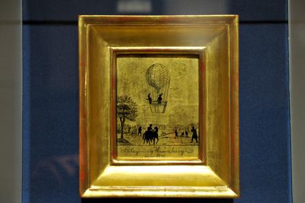 Hinterglasbild. Einzige zeitgenössische Darstellung der Schlacht von Würzburg aus dem Jahr 1796. Foto: HGM/M. Litscher.
