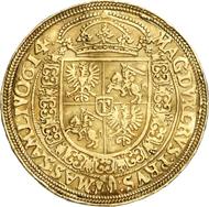 520: Polen. Sigismund III., 1587-1632. 5 Dukaten 1614, Bromberg. Kopicki 1326. Unikum. Sehr schön. Schätzung: 80.000 Euro.