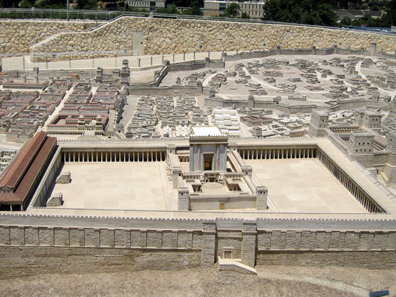 Model of the temple of Jerusalem. The Israel Museum, Jerusalem. Photograph: UK.