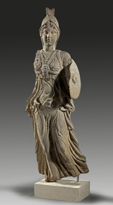 9: Athena made of black basalt. 2nd/3rd cent. A. D. H. 73 cm. Estimate: 20,000 euros. End result: 70,000 euros.
