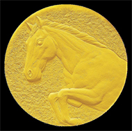 Pure Gold Medal. approx. 95g / 40mm / Mintage: 250.