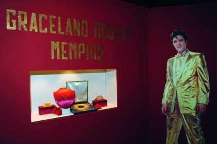Elvis Presleys vergoldetes Telefon. © The Munich Show.