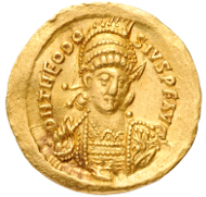 Unknown Artist. Solidus of Theodosius II, 408-450. Numismatic Museum, Athens.