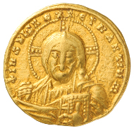 Unknown Artist. Solidus of Constantine VII Porphyrogenitus, 913-945 (regency), 945-959. Numismatic Museum, Athens.