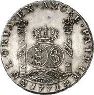 419: Dänemark. Christian VII., 1766-1808. Piaster 1771 (geprägt 1774), Kopenhagen. Dav. 411. Aus Auktion Künker 244 (6.2.2014), 419 (vorzüglich bis Stempelglanz; Schätzung: 80.000 Euro).