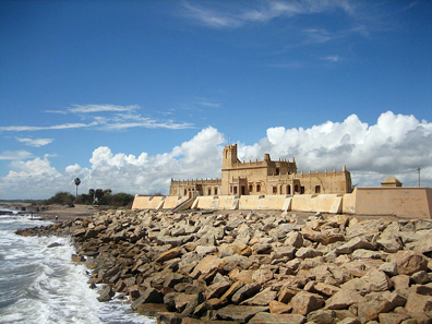 Fort Dansborg in Tranquebar, now Tharangambadi, in Tamil Nadu. Photograph: Eagersnap / http://creativecommons.org/licenses/by-sa/3.0/deed.en