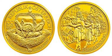 Die neue österreichische 100-Euro-Münze