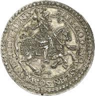 Ernst von Holstein Schaumburg, 1601-1622. Schaumünze im Gewicht eines Talers. Lange 837. Aus Auktion Künker 244 (6. Februar 2014), Nr. 315). Von größter Seltenheit. Vorzüglich. Schätzung: 25.000 Euro.