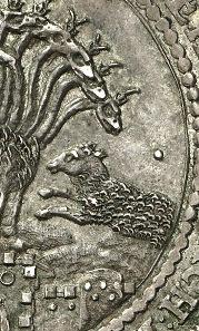Detail aus der obigen Medaille.
