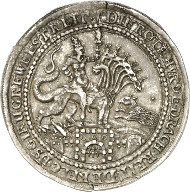 Ernst von Holstein Schaumburg, 1601-1622. Schaumünze im Gewicht eines halben Talers. Lange 838. Aus Auktion Künker 244 (6. Februar 2014), Nr. 316). Von größter Seltenheit. Vorzüglich. Schätzung: 25.000 Euro.