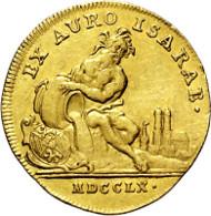 2812: BAYERN. Maximilian III. Joseph. 1745-1777, München. Isargold-Dukat 1760 (unsigniert; Stempel von Franz Andreas Schega). Taxe: 3.500 Euro.