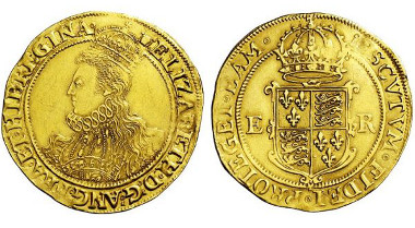 3786: GROSSBRITANNIEN. Elizabeth I. 1558-1603, London. Pound o. J. (Sixth Issue; mintmark woolpack; 1594/96). Taxe: 7.500 Euro.
