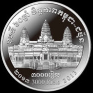 Cambodia / 3,000 Riels / Silver .925 / 20.0 g / 35.0 mm / Mintage: 5,000.