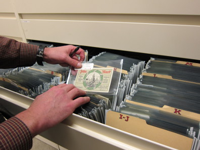 Ein deutscher Notgeld-Schein aus der Papiergeldsammlung der ANS. Foto: UK.